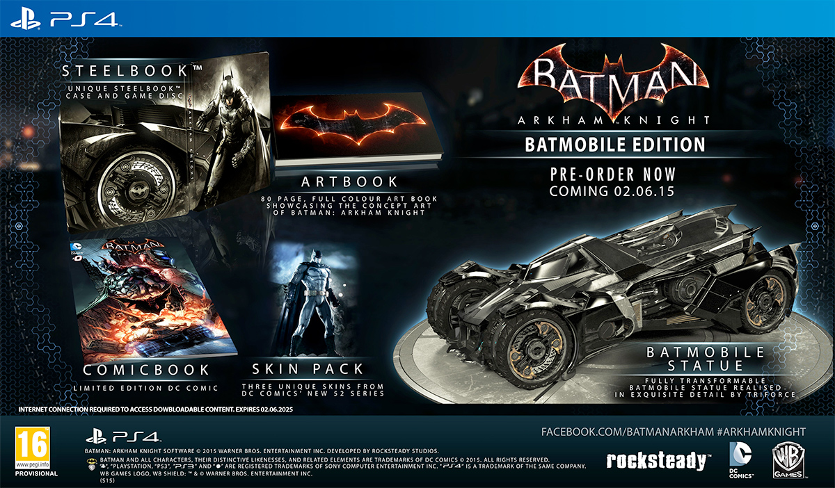 ... : Arkham Knight, data di uscita e Limited Edition - Another Castle Xbox One Special Edition