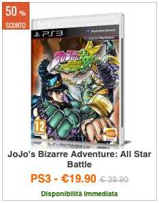 OFFERTA JoJo's Bizarre Adventure All-Star Battle