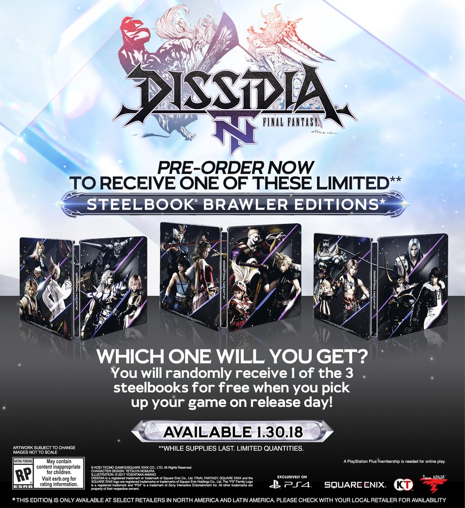 Dissidia Final Fantasy NT uscirà il 30 gennaio 2018 anche in Europa