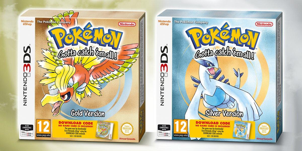 Pokémon Oro e Argento tornano in versione retail per Nintendo 3DS