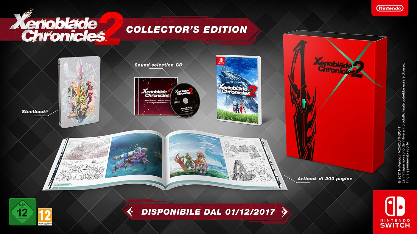 Xenoblade Chronicles 2: dettagli su Collector's Edition e Pro Controller