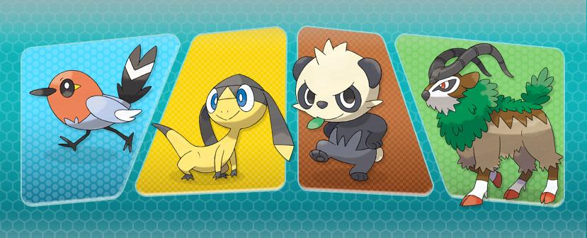 Pancham-Gogoat-Fletchling-Helioptile-Pokemon-X-and-Y