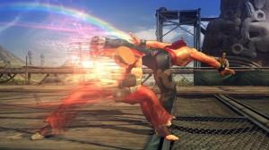 Prova subito le mosse speciali di Tekken Revolution, come l'esclusiva filercia color arcobaleno di Law!