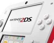 nintendo 2DS white red cover