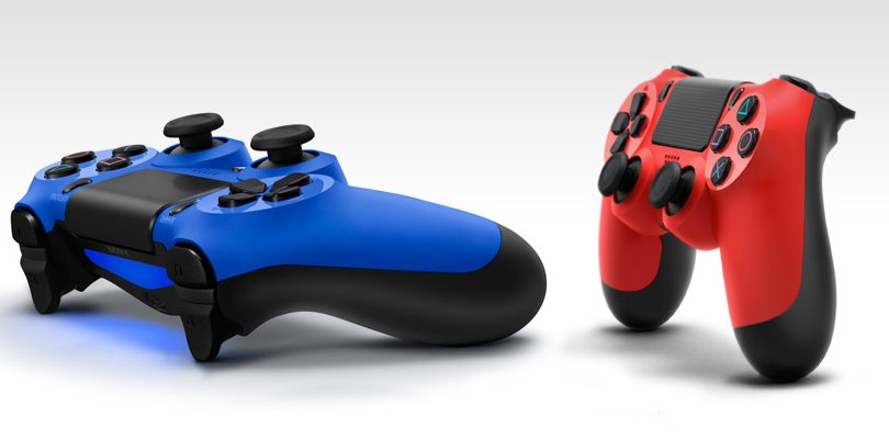 playstation 4 dualshock 4 red blue cover