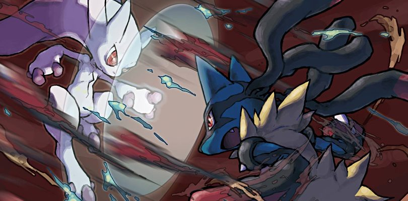 pokemon x y mega mewtwo vs mega lucario cover