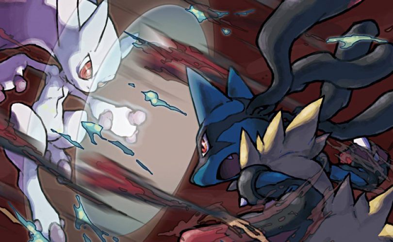 pokemon x y mega mewtwo vs mega lucario cover