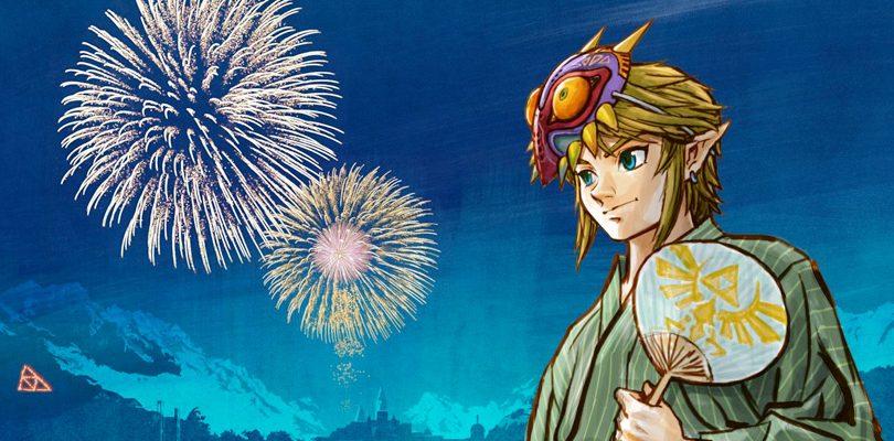 zelda majora mask link japan cover