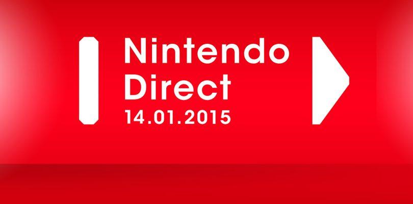 Nintendo Direct annunciato per il 14 gennaio 2015