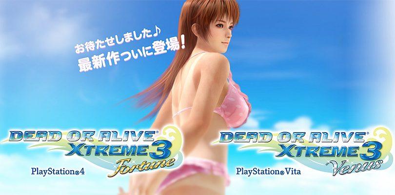 DEAD OR ALIVE Xtreme 3: online il sito ufficiale