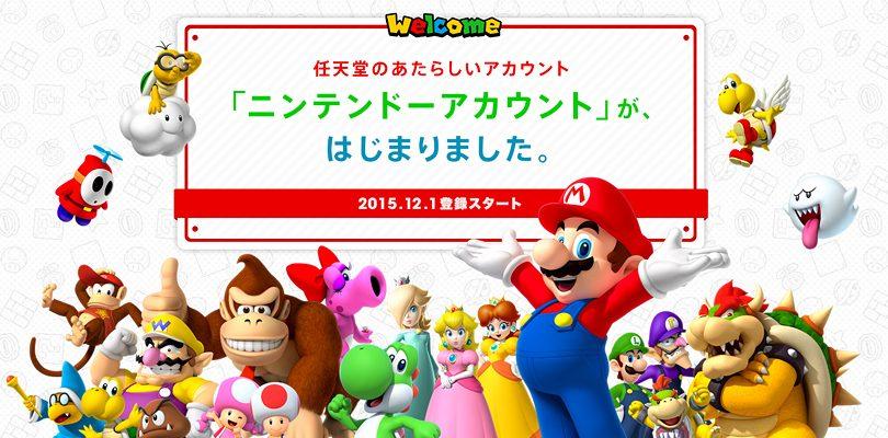 Il sistema Nintendo Account è disponibile per il Giappone