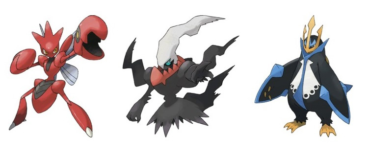 POKKÉN TOURNAMENT -  Scizor, Darkrai ed Empoleon