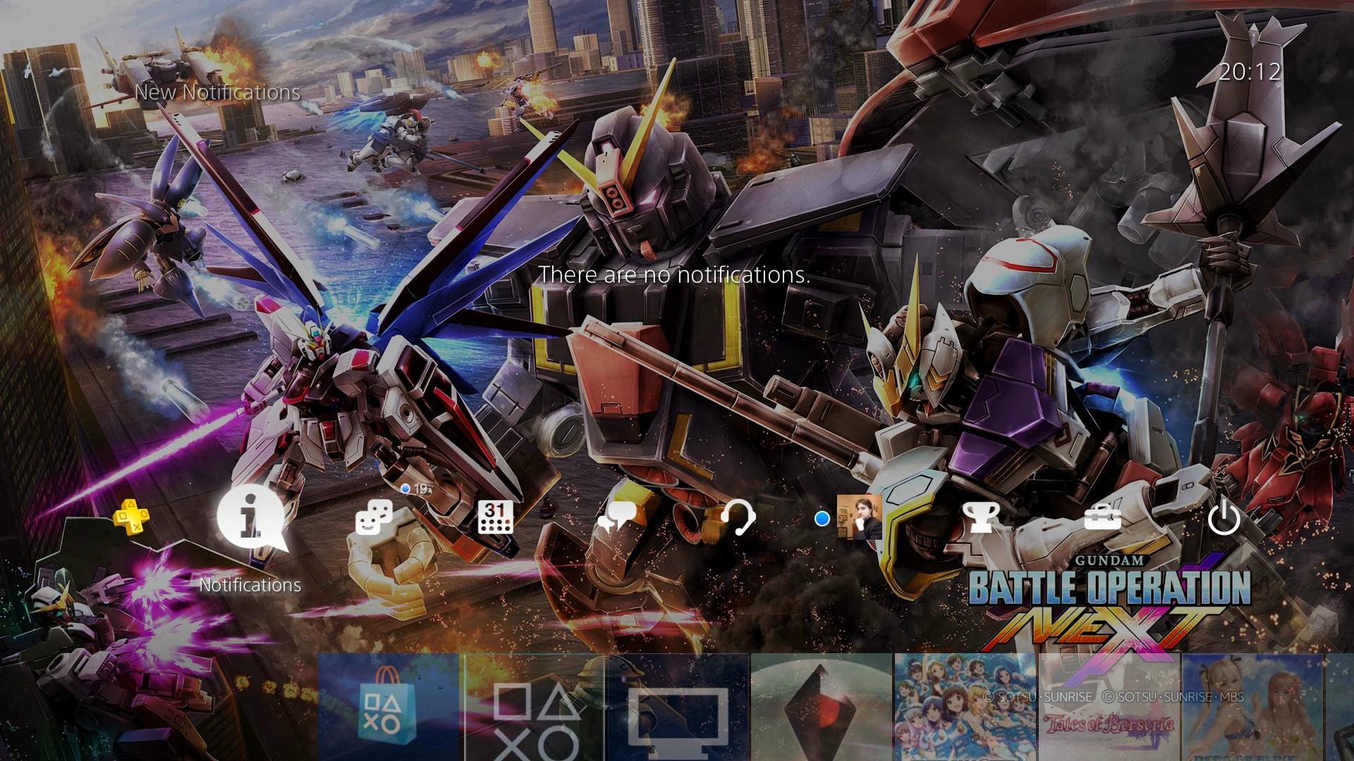 Gundam Battle Operation NEXT tema PS4
