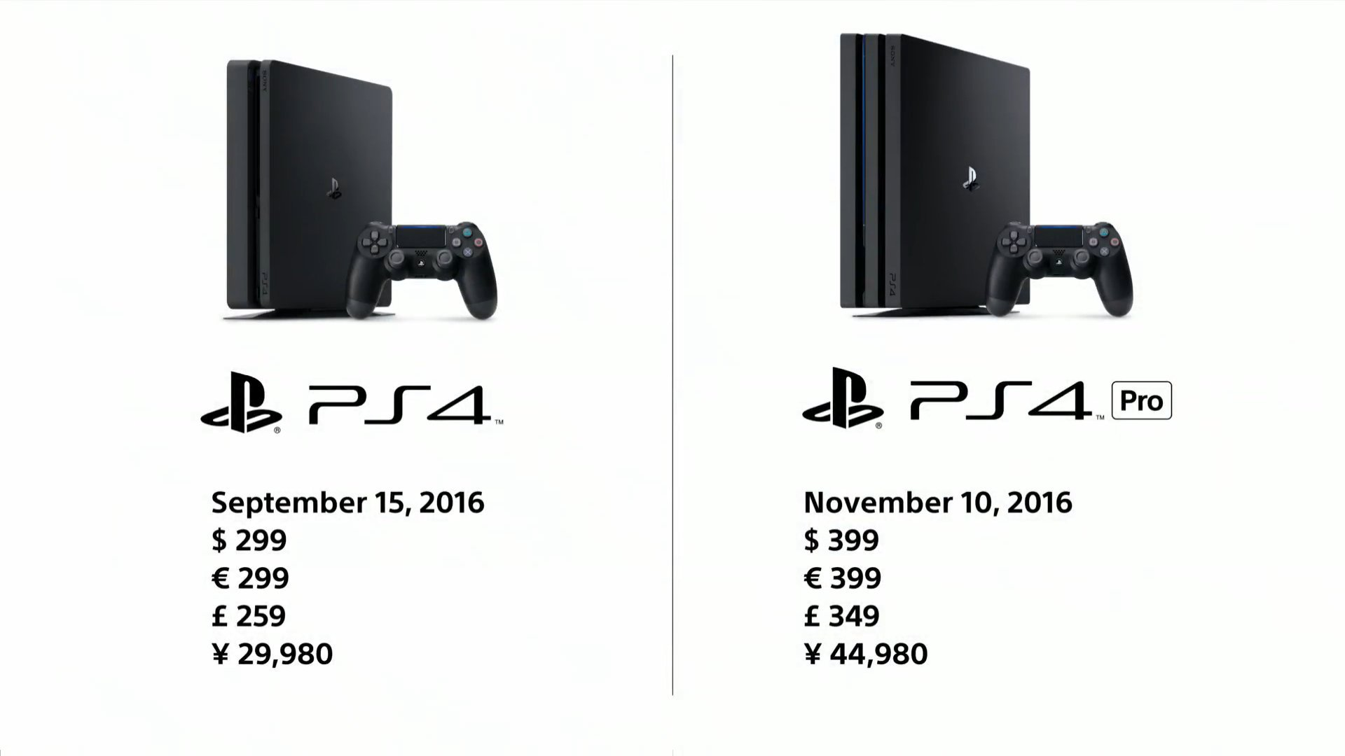 PlayStation 4 Pro e PS4 Slim