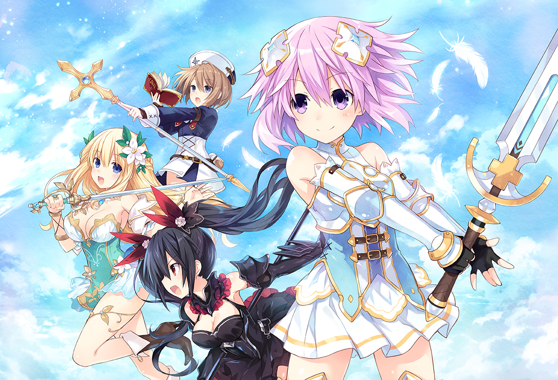 four-goddesses-online-cyber-dimension-neptune-artwork