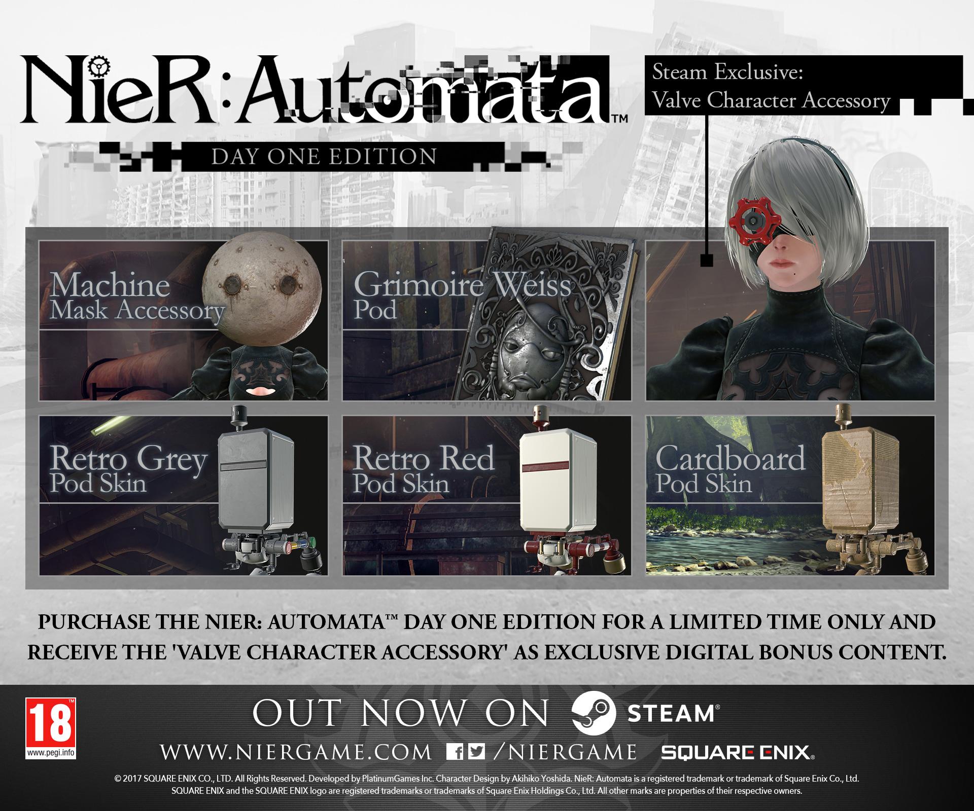 NieR: Automata è disponibile su PC tramite Steam