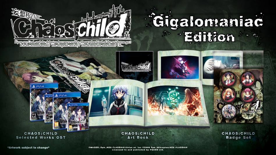 CHAOS;CHILD - Annunciata la Gigalomaniac Edition