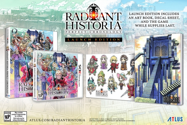 Radiant Historia: Perfect Chronology, Story Trailer e Launch Edition