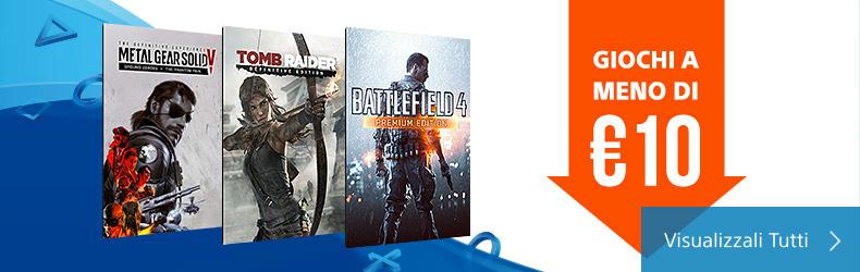 PlayStation 4: videogiochi giapponesi a meno di 10 €