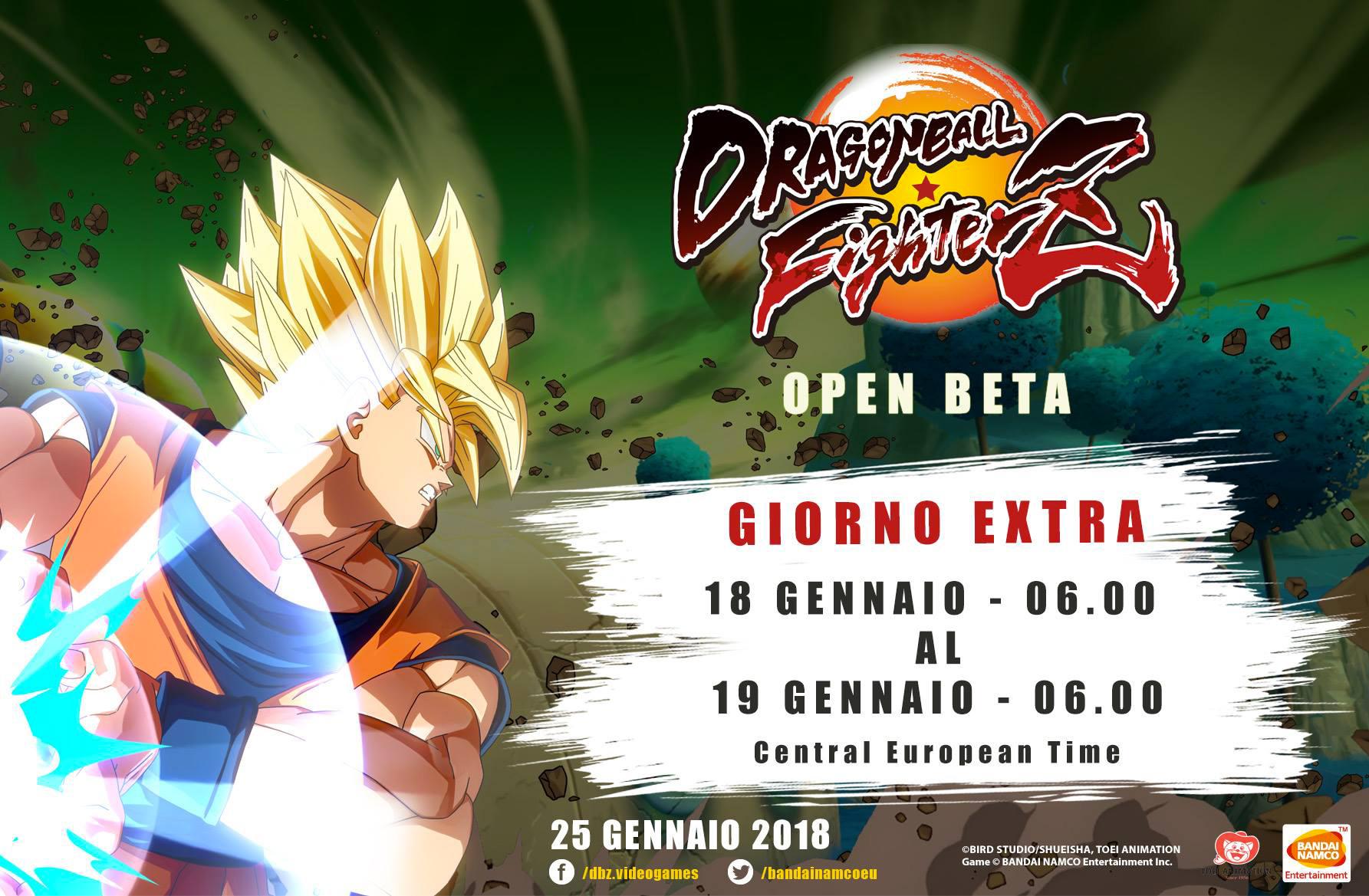 DRAGON BALL FighterZ: confermate altre 24 ore di Open Beta