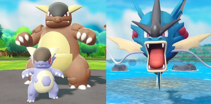 Pokemon: Let's Go, Pikachu & Eevee - Mega Kangaskhan e Mega Gyarados