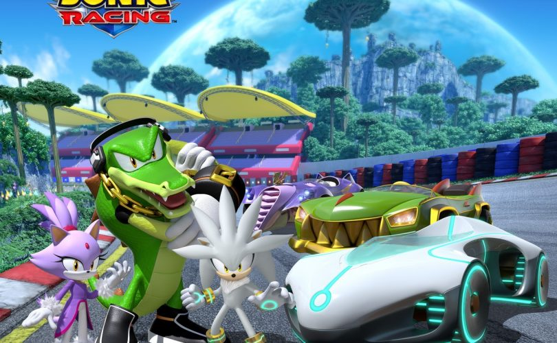Team Sonic Racing accoglie Vector the Crocodile, Blaze the Cat e Silver the Hedgehog