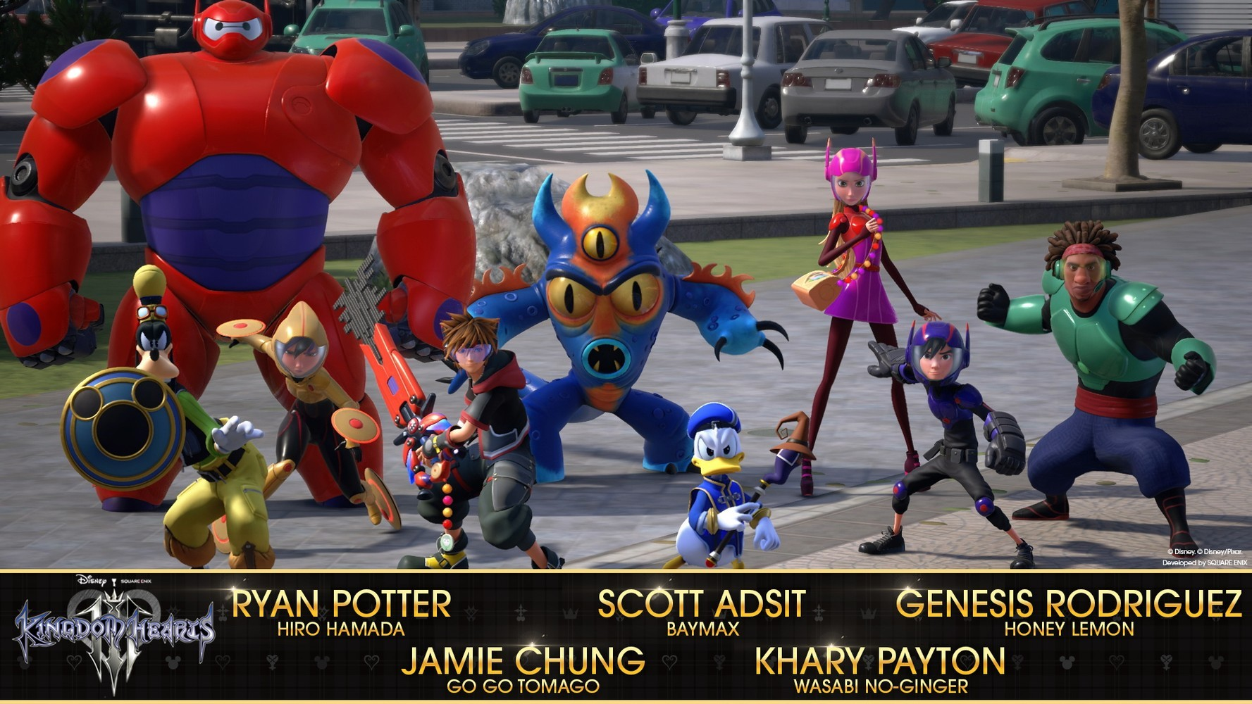 KINGDOM HEARTS III ECCO IL CAST DEI DOPPIATORI DI BIG HERO 6