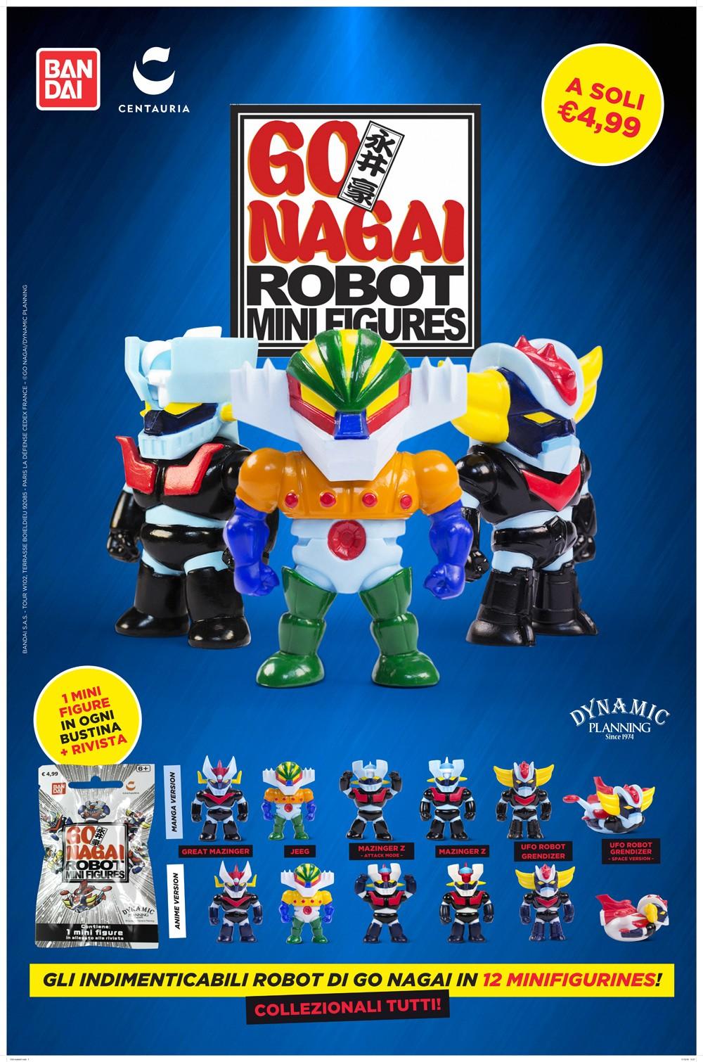 Go Nagai Robot Mini Figures