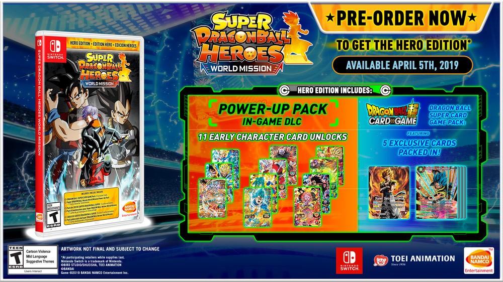 """SUPER DRAGON BALL HEROES: WORLD MISSION, annunciata la """"HERO Edition"""""""