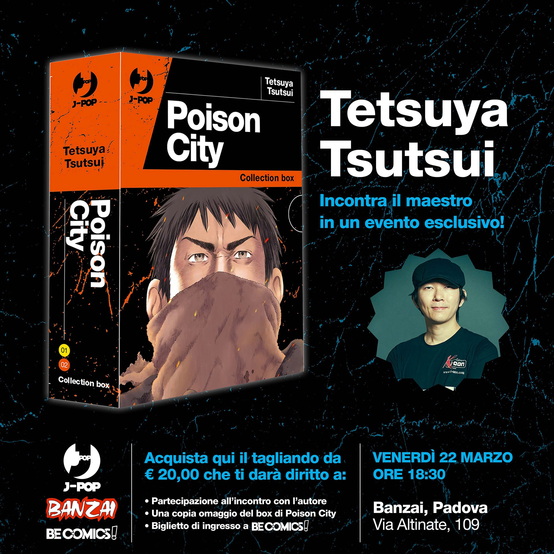 Tetsuya Tsutsui ospite al BeComics