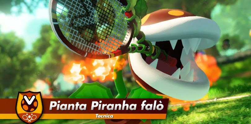 Mario Tennis Aces: trailer per Pianta Piranha falò