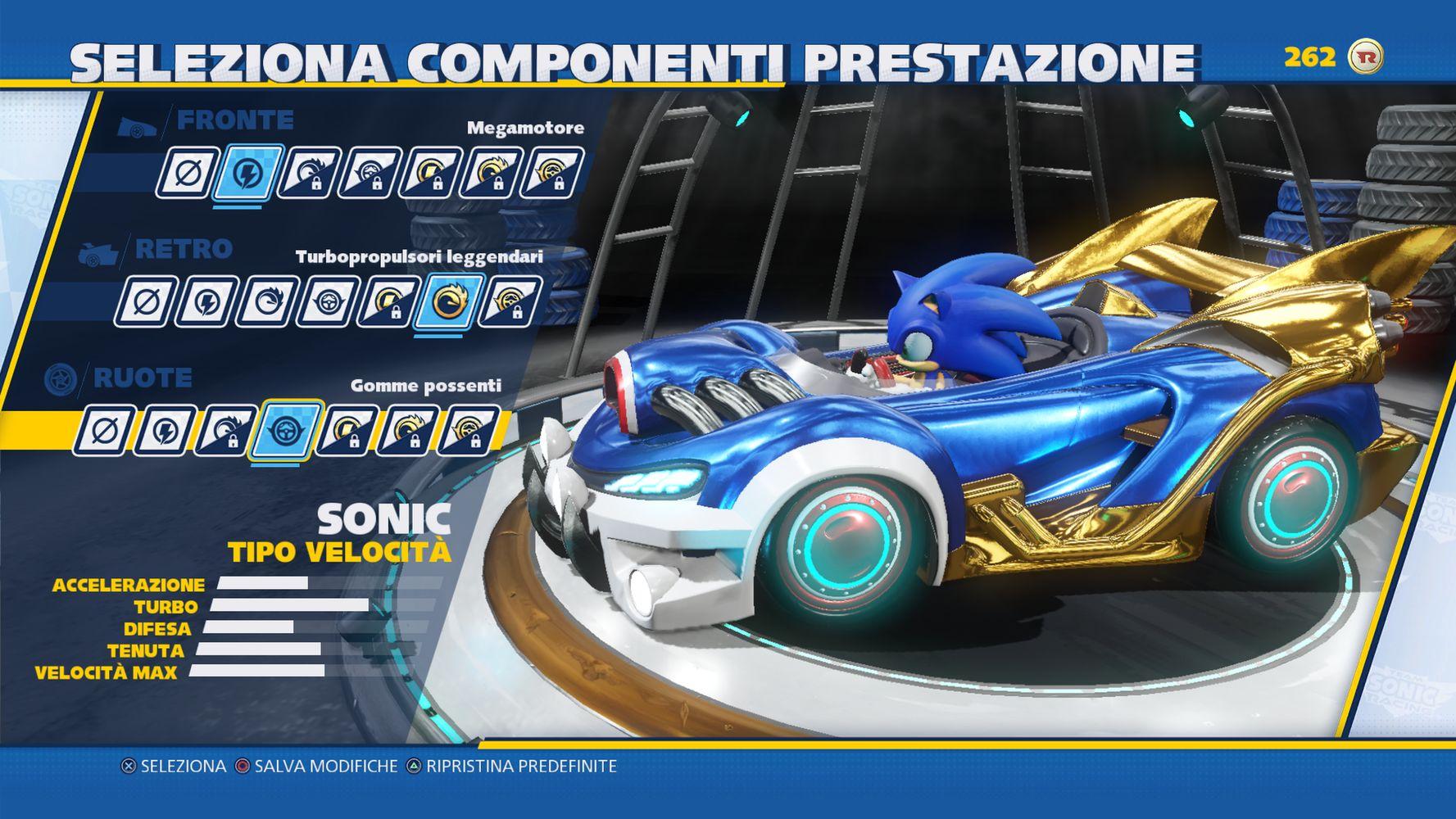 Personalizzazione auto Sonic