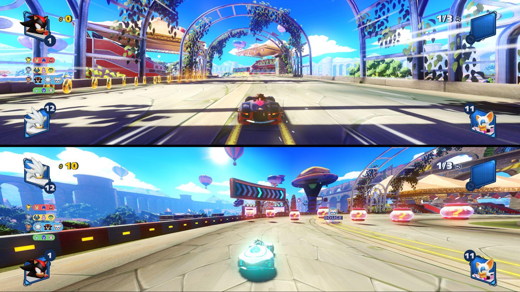 Gameplay in split screen