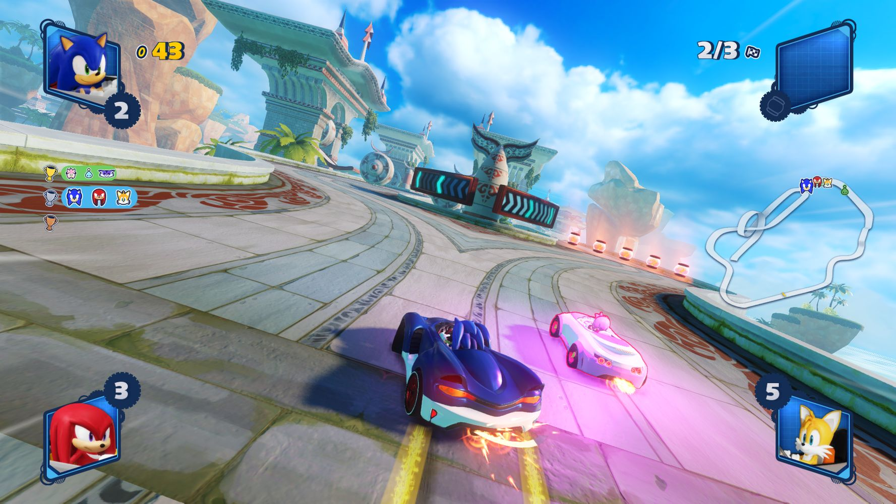 Team Sonic Racing, gara con Sonic