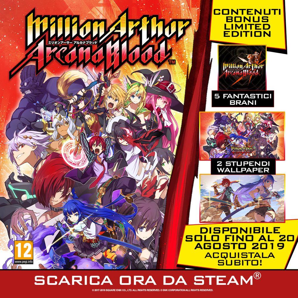 Million Arthur: Arcana Blood è disponibile su Steam
