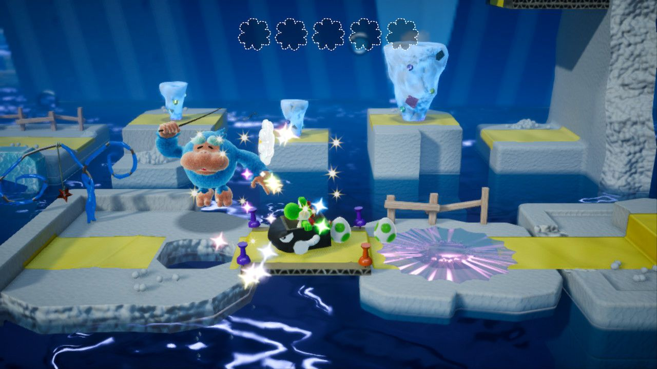Yoshi's Crafted World ghiaccio