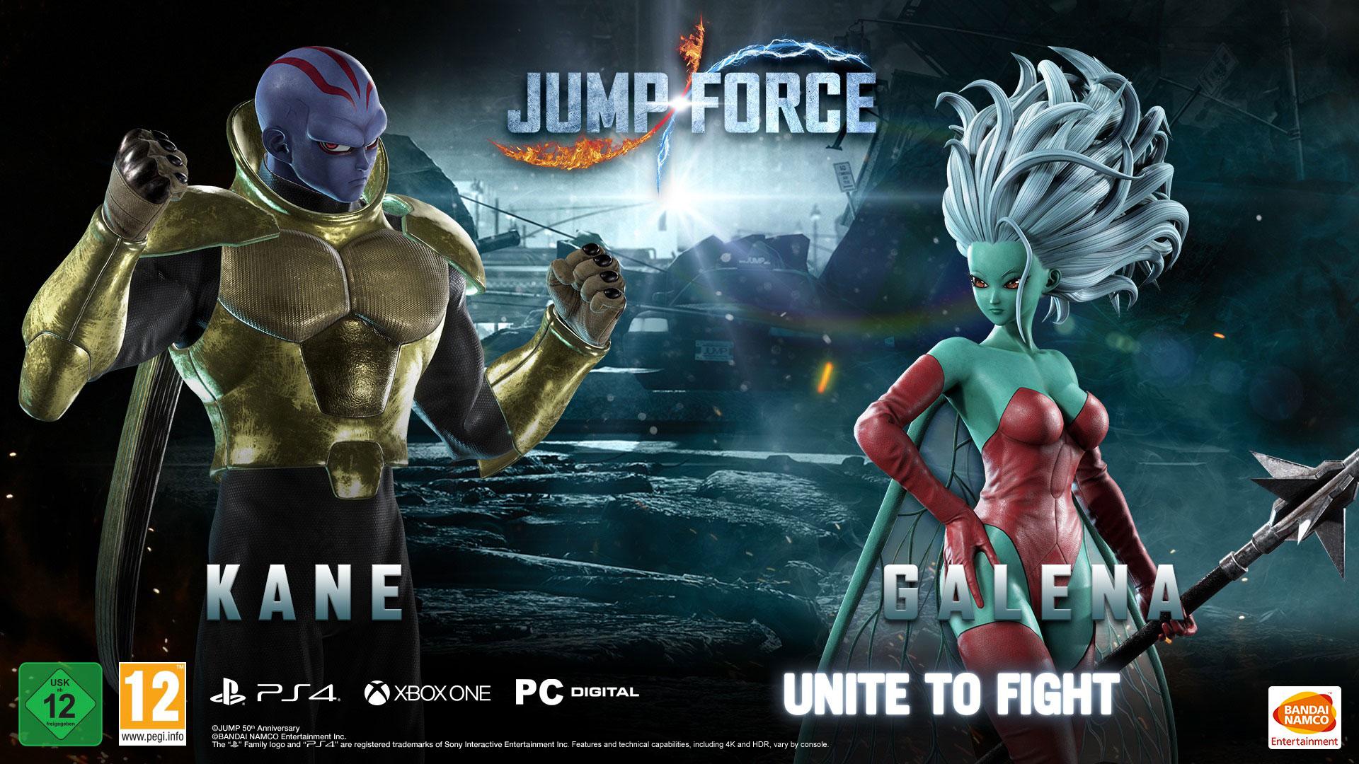 JUMP FORCE: Kane e Galena