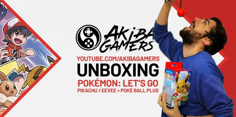 VIDEO – Pokémon: Let's Go, Pikachu! & Let's Go, Eevee! + Poké Ball Plus UNBOXING