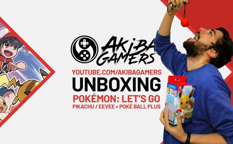 VIDEO – Pokémon: Let's Go, Pikachu! & Let's Go, Eevee! + Poké Ball Plus UNBOXING