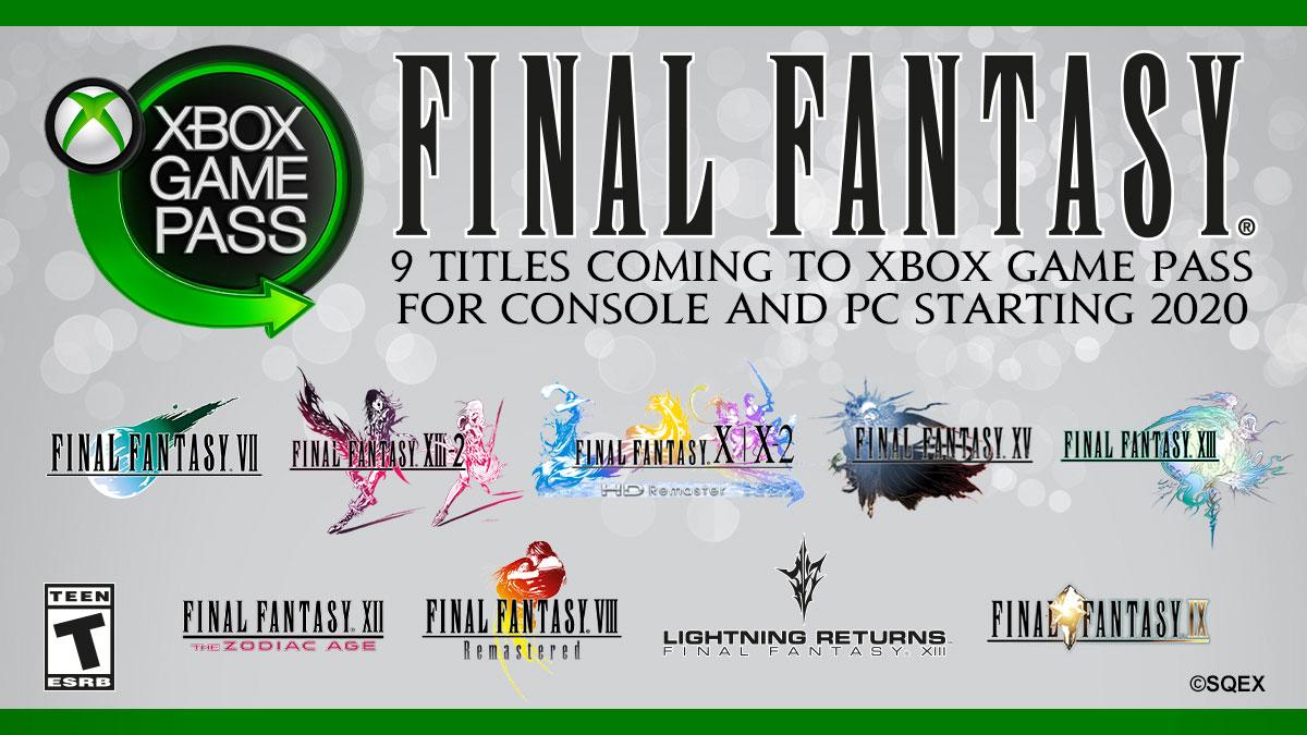 FF XBOX GAME PASS
