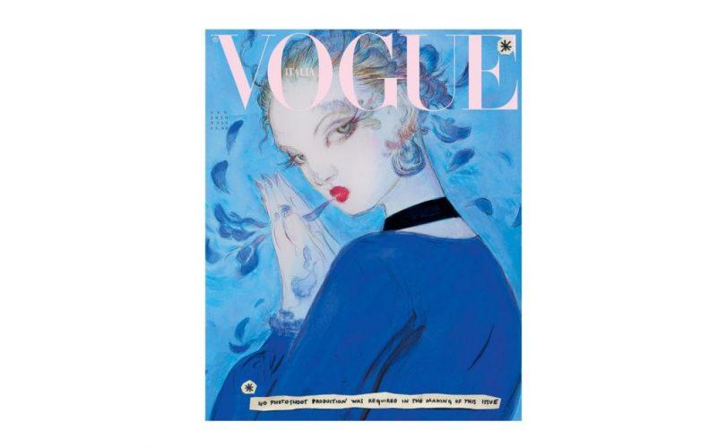Yoshitaka Amano ha realizzato una delle copertine di Vogue Italia di gennaio