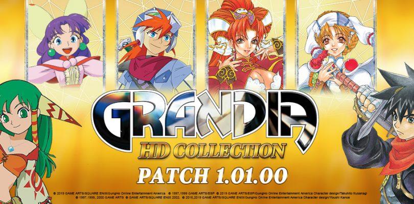 Grandia HD Collection e Remaster si aggiornano alla versione 1.01