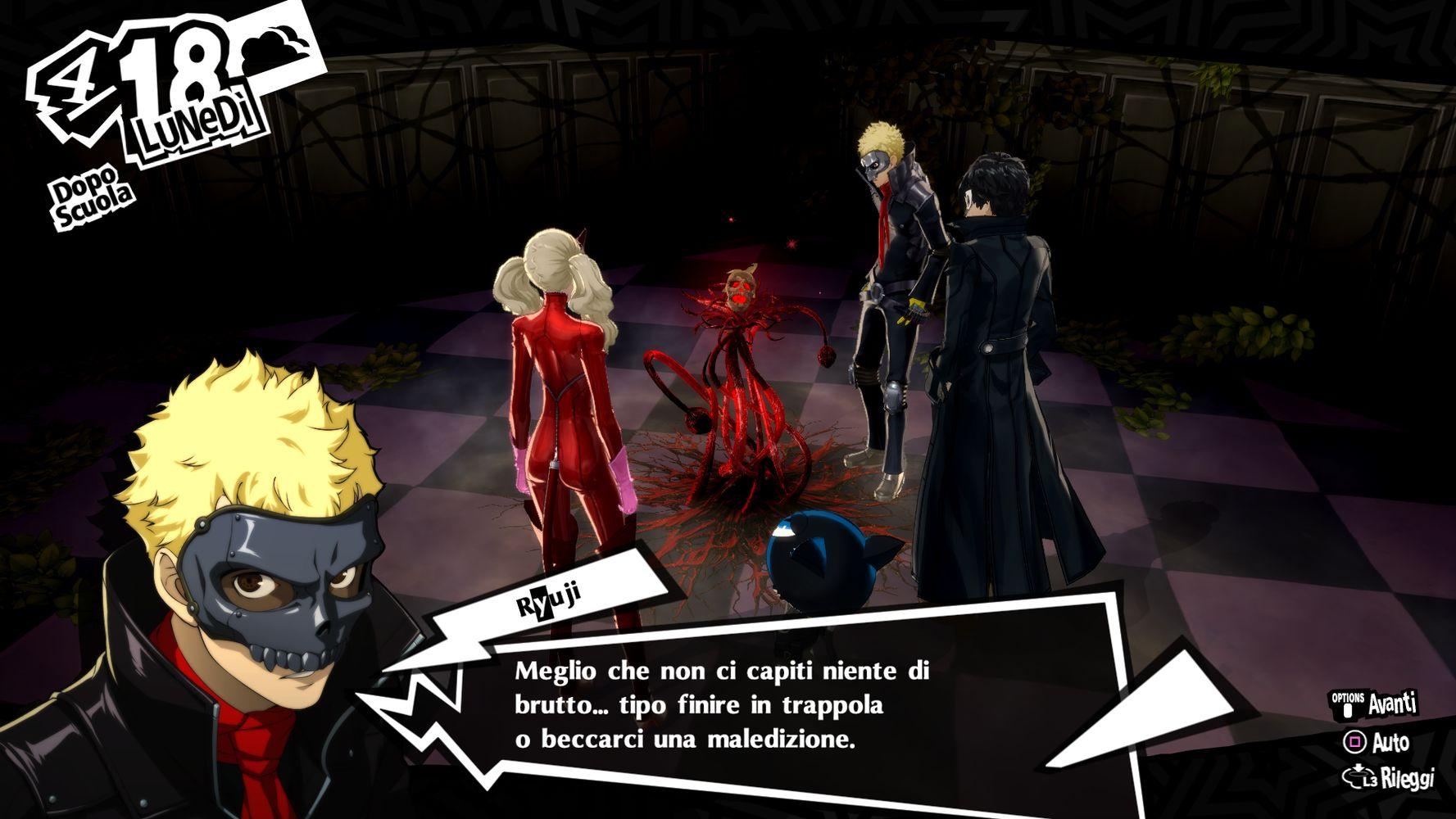 Persona 5 Royal, dialoghi Ryuji