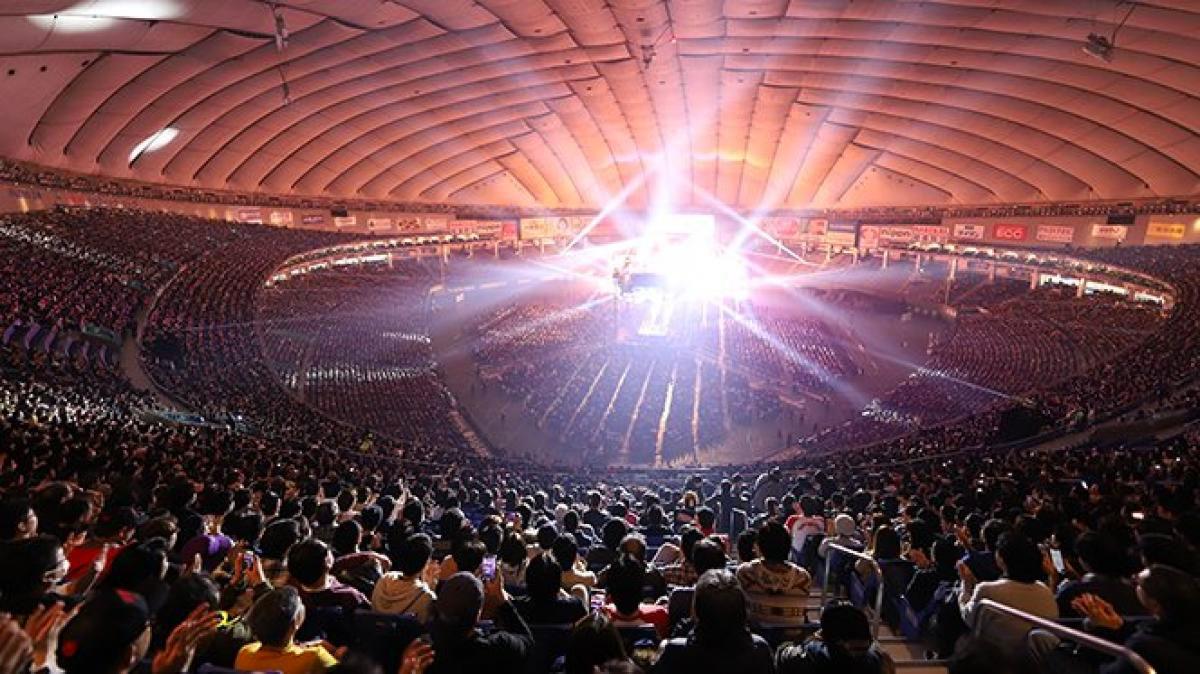 Un Tokyo Dome da 40.000 spettatori, vicino al tutto esaurito. Una fantastica serata di spettacolo!