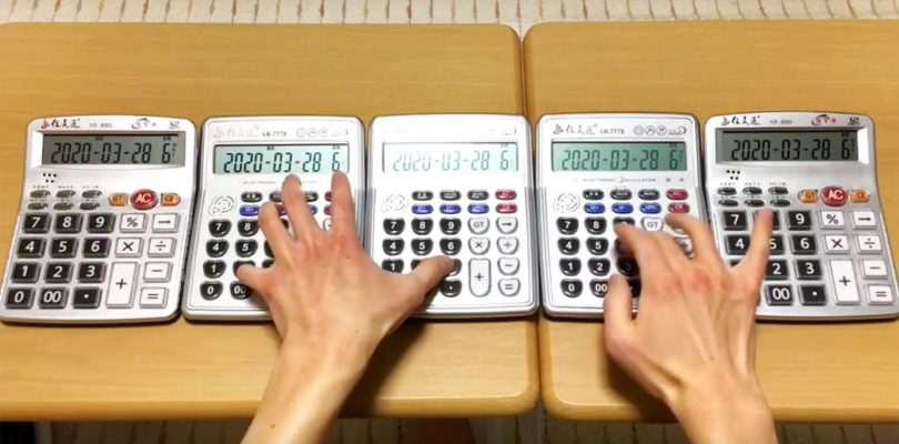 In Giappone c'è qualcuno che suona (da dio) le calcolatrici