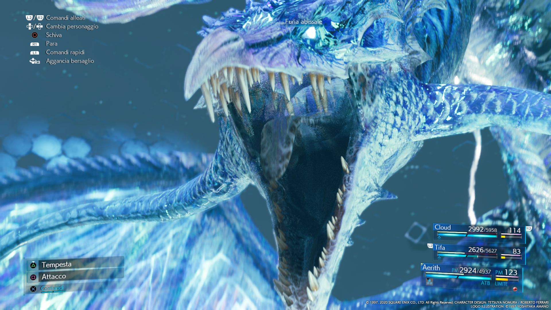 L'Esper Leviatano in FINAL FANTASY VII REMAKE