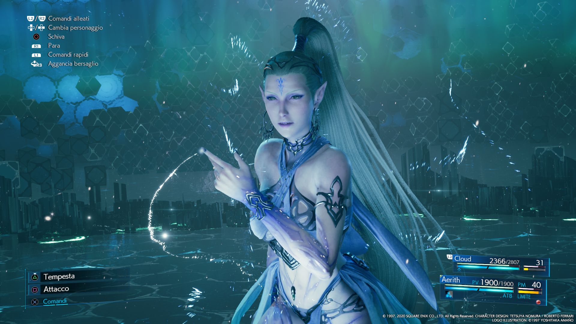 L'Esper Shiva in FINAL FANTASY VII REMAKE
