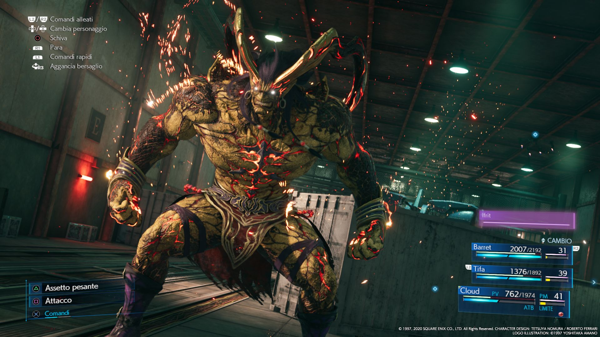 Ifrit in FINAL FANTASY VII REMAKE