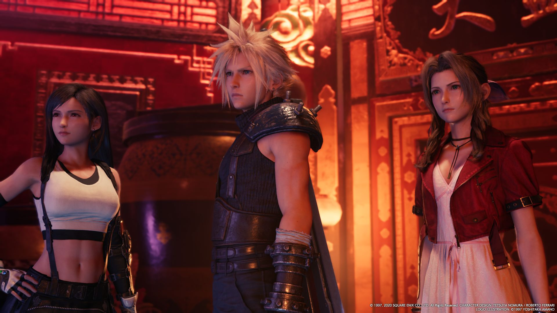 Tifa, Cloud e Aerith