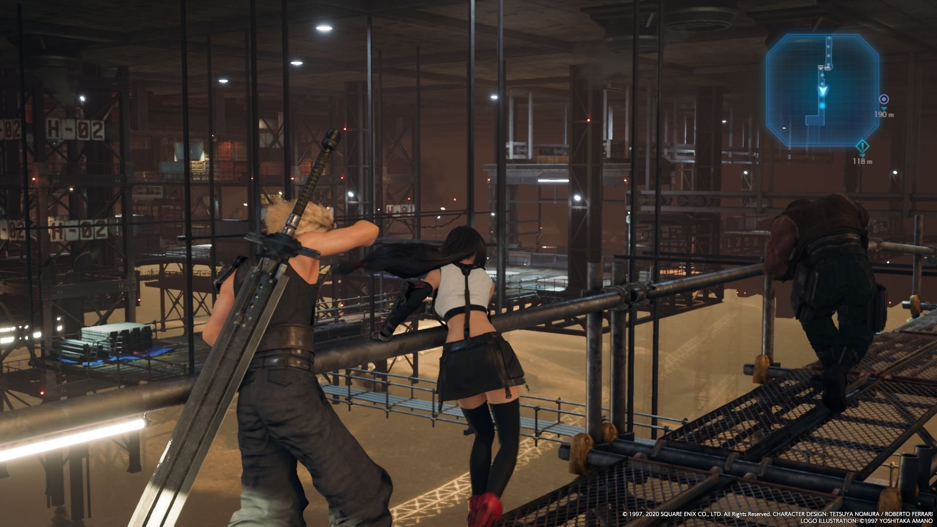 Cloud e Tifa in FINAL FANTASY VII REMAKE